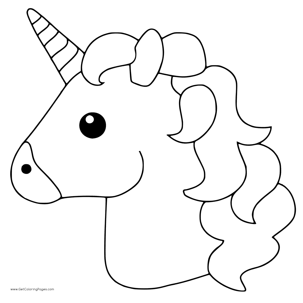 1024x1024 Unicorn Emoji Coloring Pages