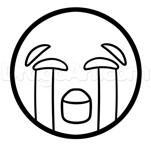 518x511 Crying Emoji Coloring Pages