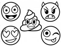 200x150 Emoji Coloring Pages How To Draw And Color Emoji Faces