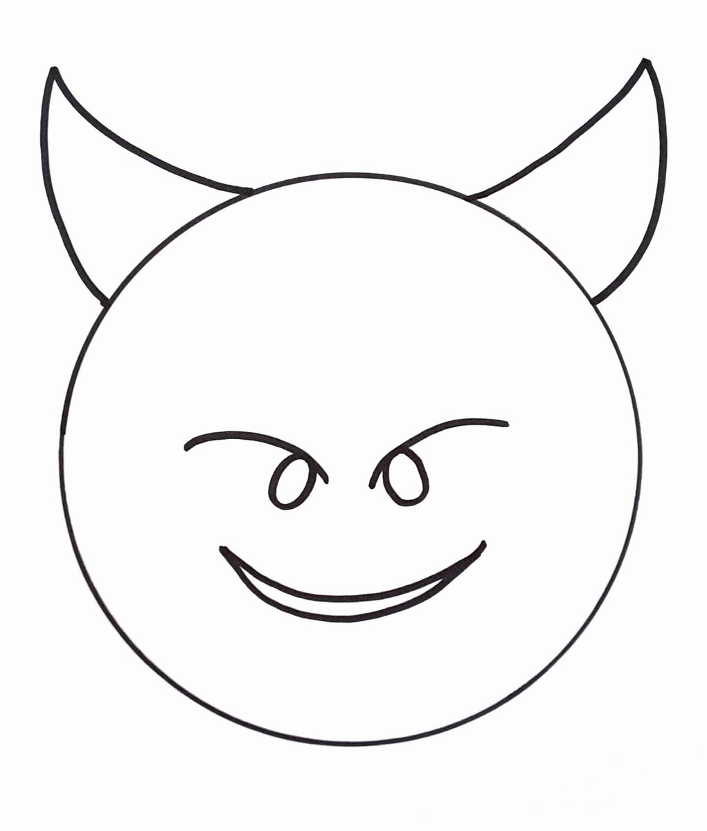 1021x1200 Emoji Coloring Pages