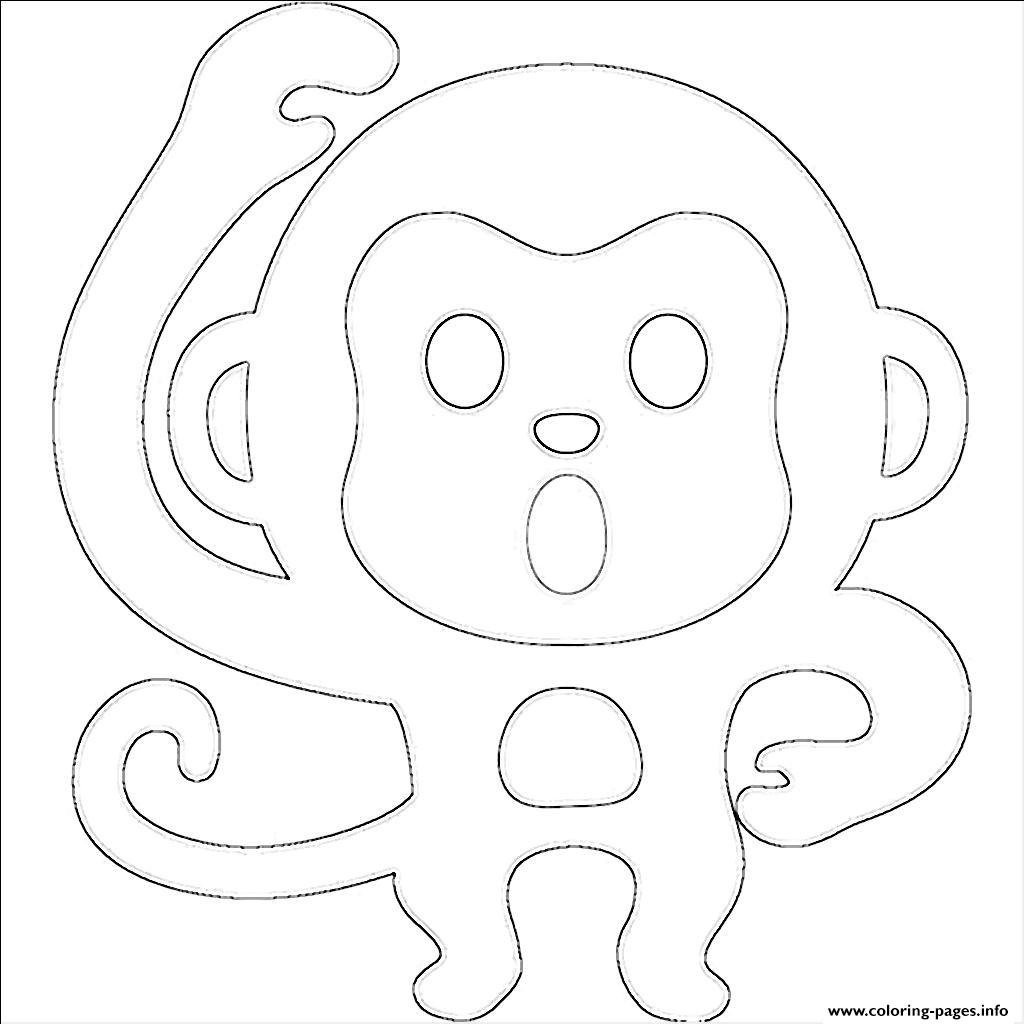 1024x1024 Emoji Monkey Emoticon Coloring Pages Printable