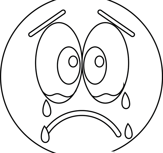640x600 Sad Coloring Pages Sad Cry Emoji Coloring Pages Printable