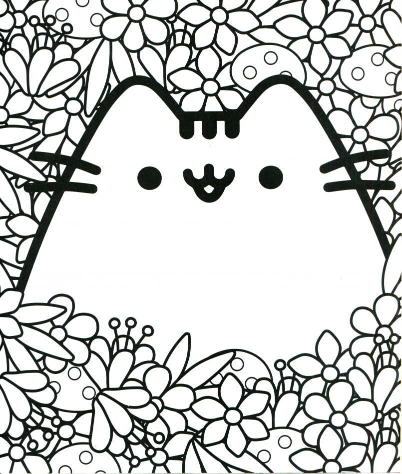 805x948 Coloring Pusheen Cat Coloring Pages Also Emoji Coloring Pages