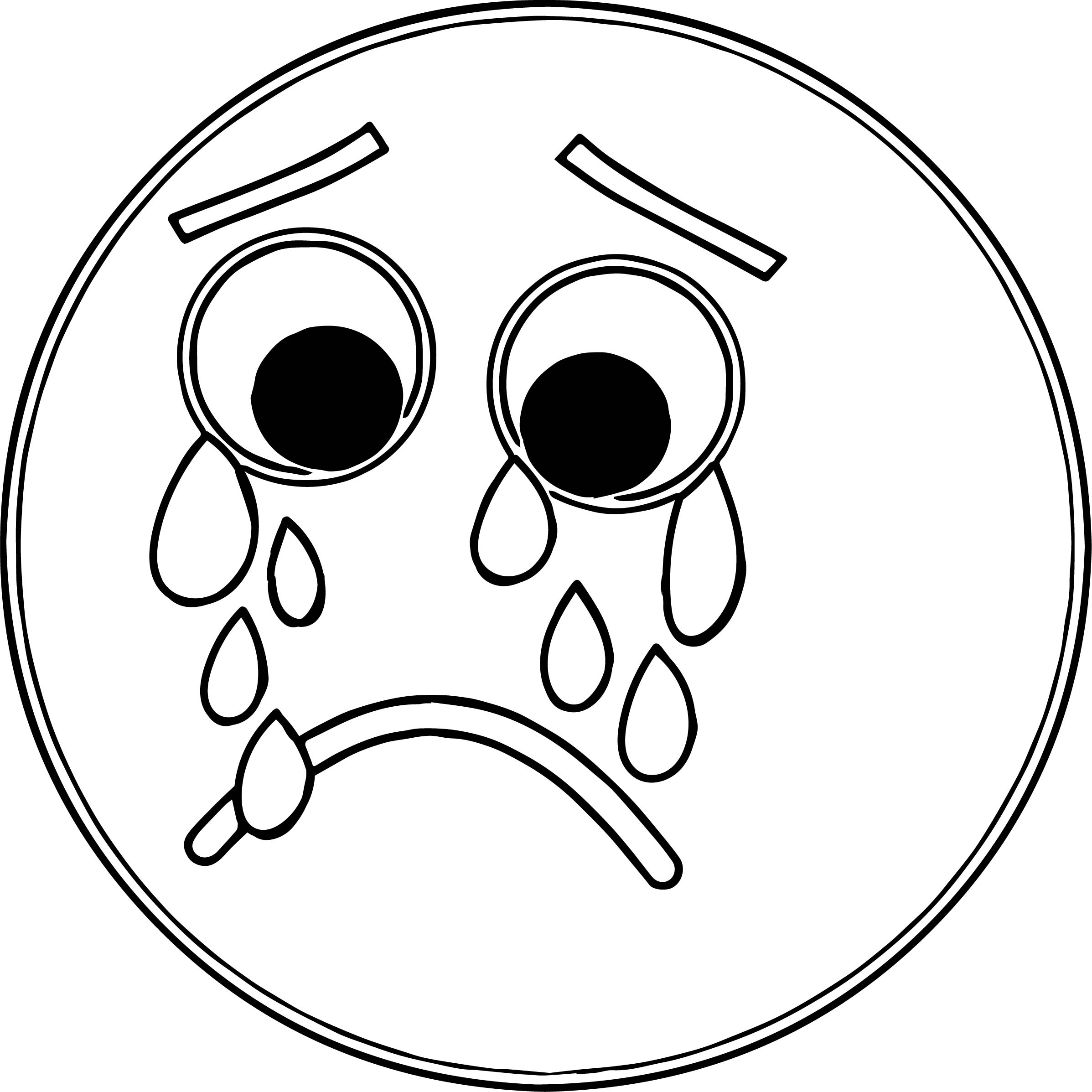 2395x2395 Printable Sad Face Coloring Page Free Coloring Pages Download