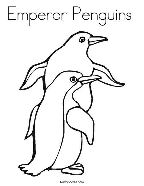 468x605 Emperor Penguins Coloring Page