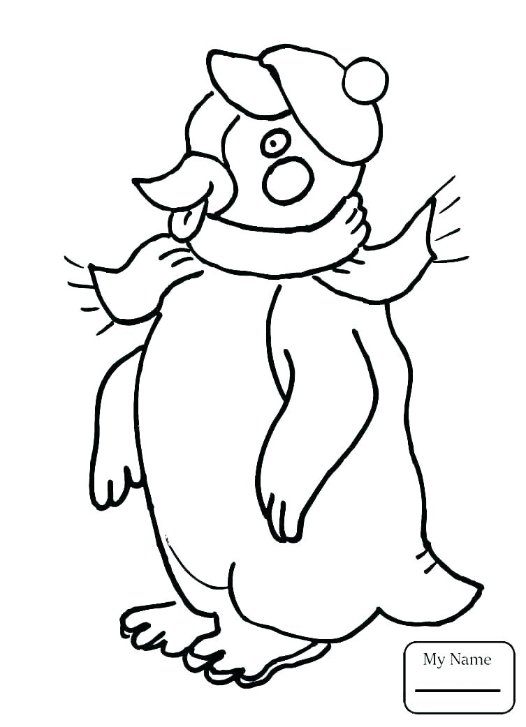 753x1042 Printable Penguin Coloring Pages Coloring For Kids Remarkable