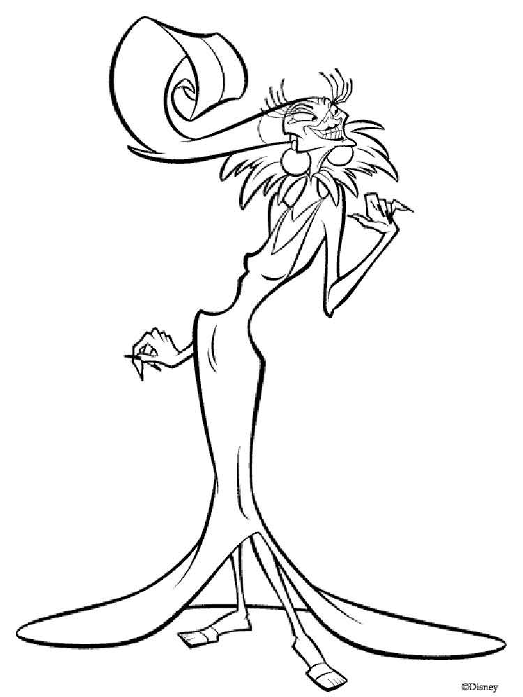 750x1000 The Emperor's New Groove Coloring Pages Download And Print