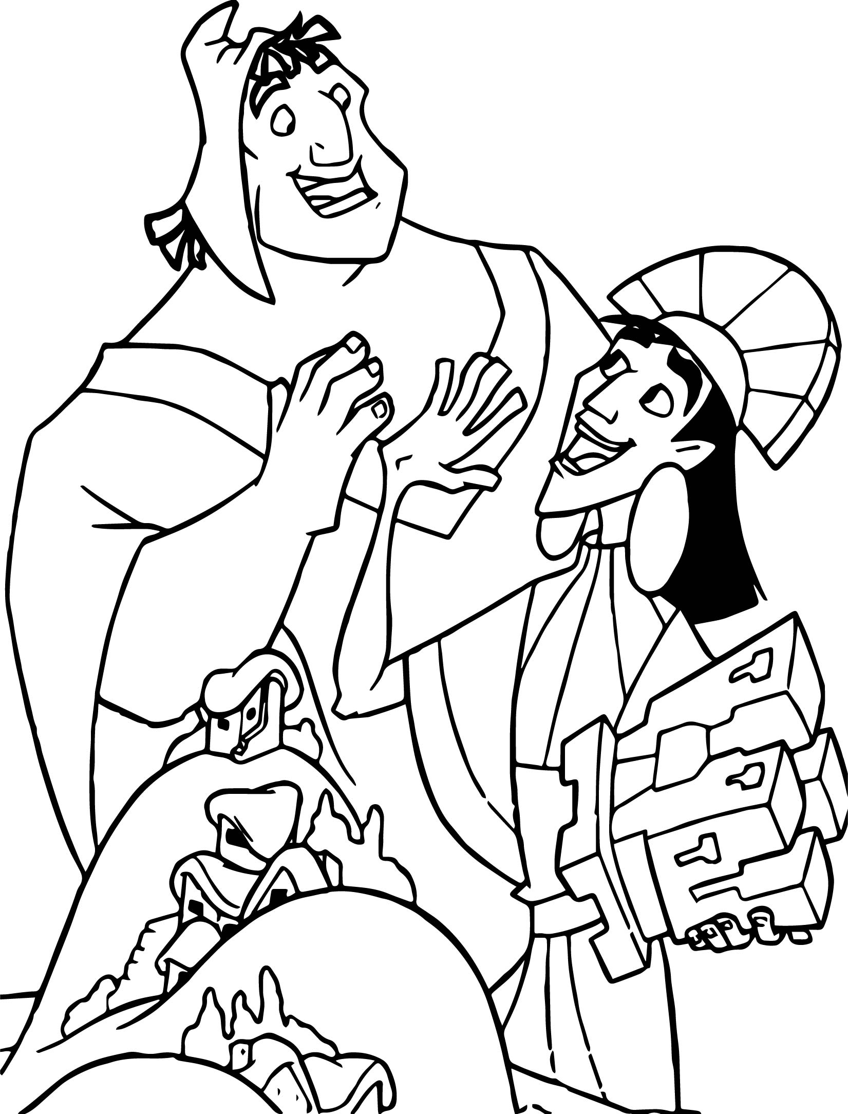 1651x2168 The Emperor New Groove Disney Castle Toy Coloring Pages