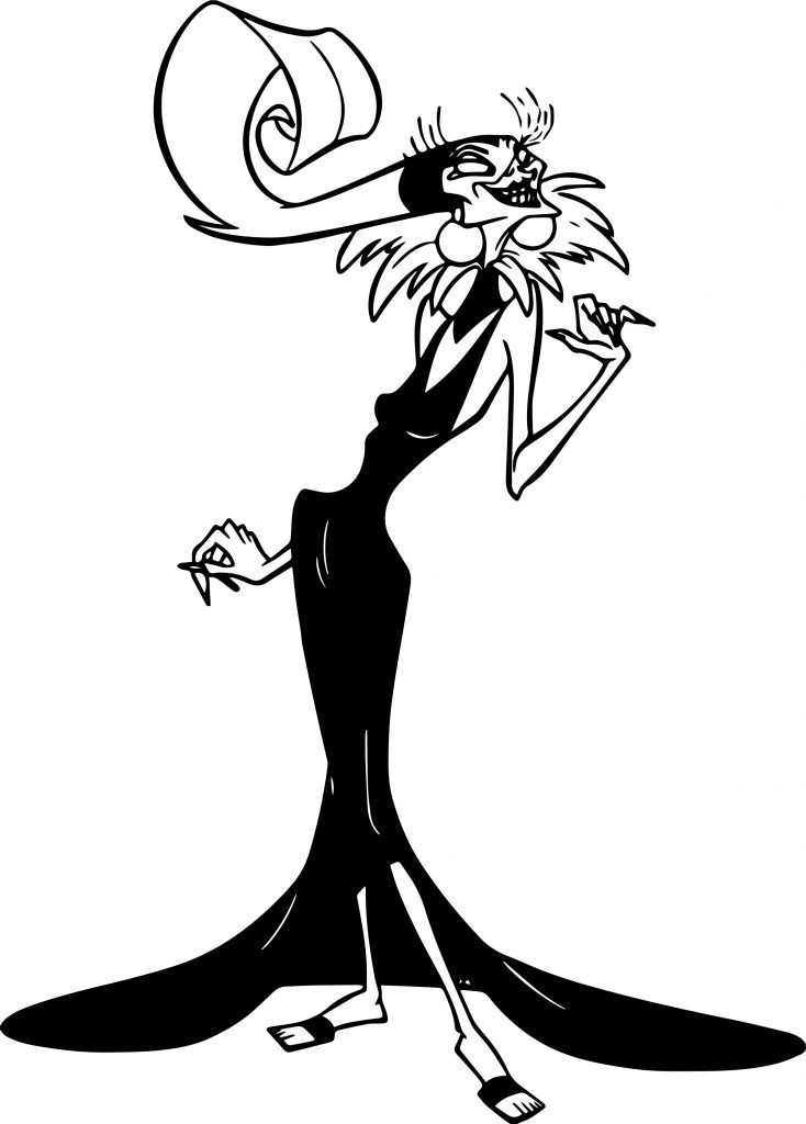 734x1024 The Emperor New Groove Yzma Disney Pose Coloring Pages