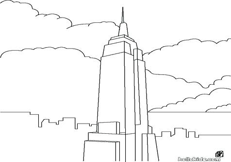 476x333 Us Symbols Coloring Pages Empire State Building Bridge Coloring