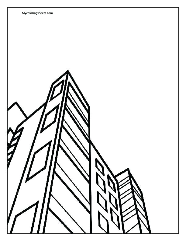 612x792 Empire State Building Coloring Page Deepart