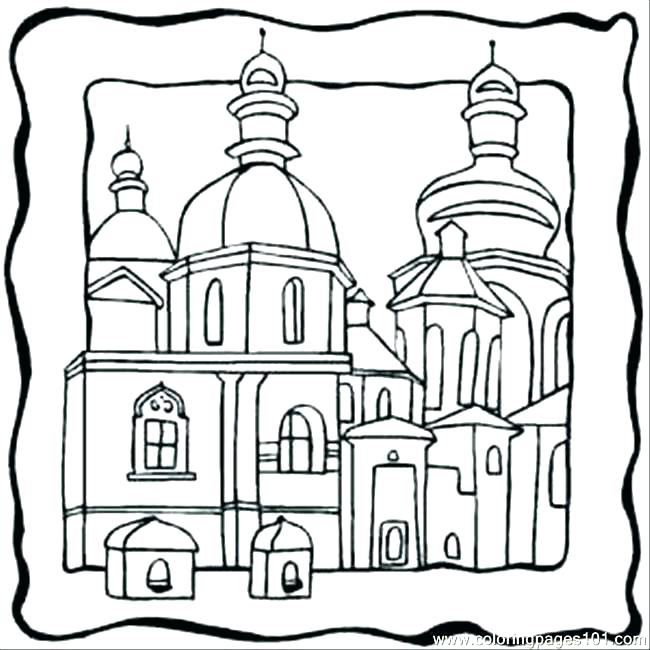 650x650 Building Coloring Pages Building Coloring Page Building Coloring