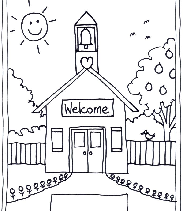 781x900 Building Coloring Pages Building Coloring Page School Classes
