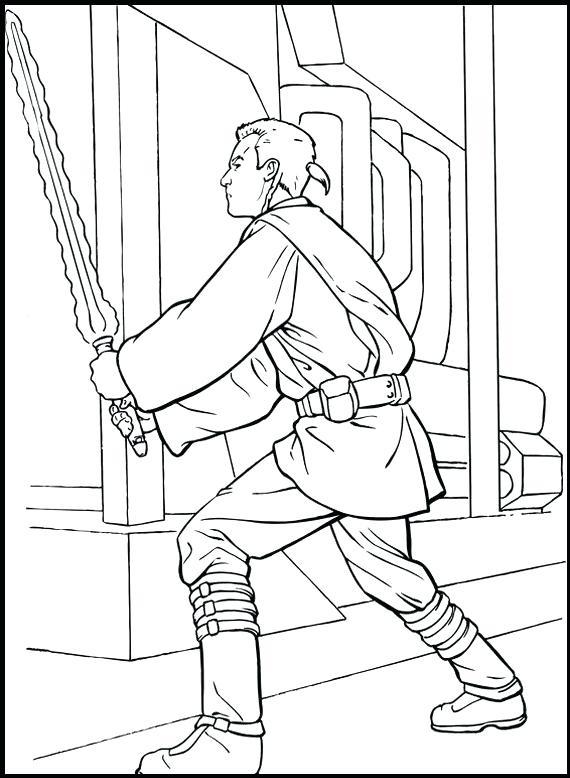 570x778 Star Wars Obi Wan Kenobi Coloring Pages Kids Coloring Laser Sword