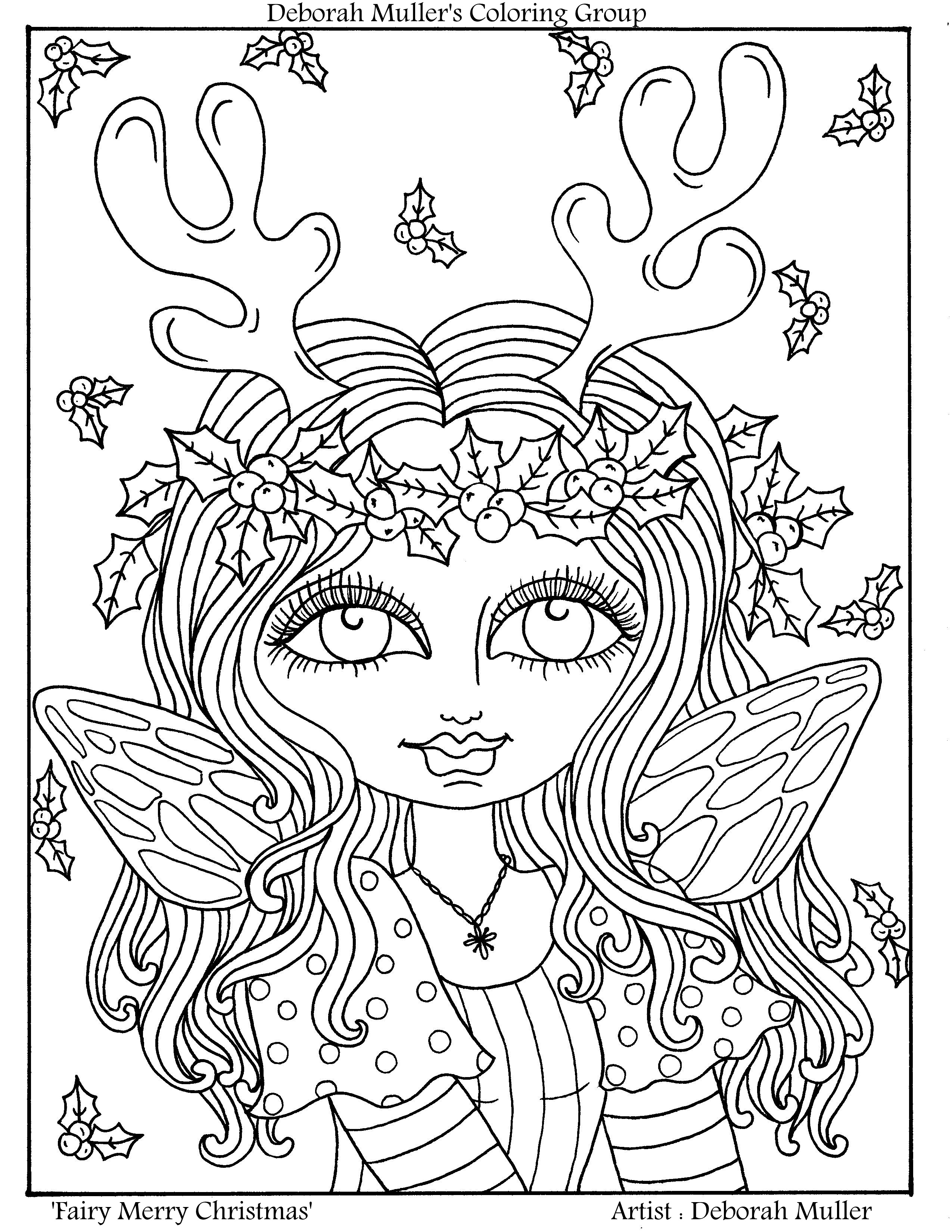 2550x3300 Christmas Fairy Coloring Pages Gallery Coloring For Kids
