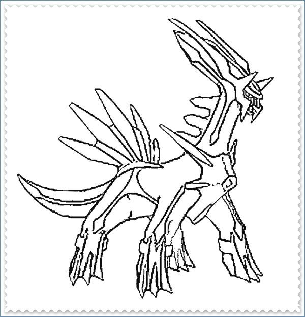 600x625 Dialga Pokemon Coloring Page