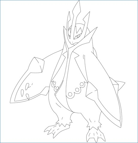 461x480 Azelf Pokemon Coloring Page