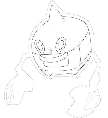 438x480 Weavile Coloring Page