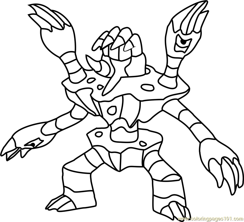 800x727 Barbaracle Pokemon Coloring Page