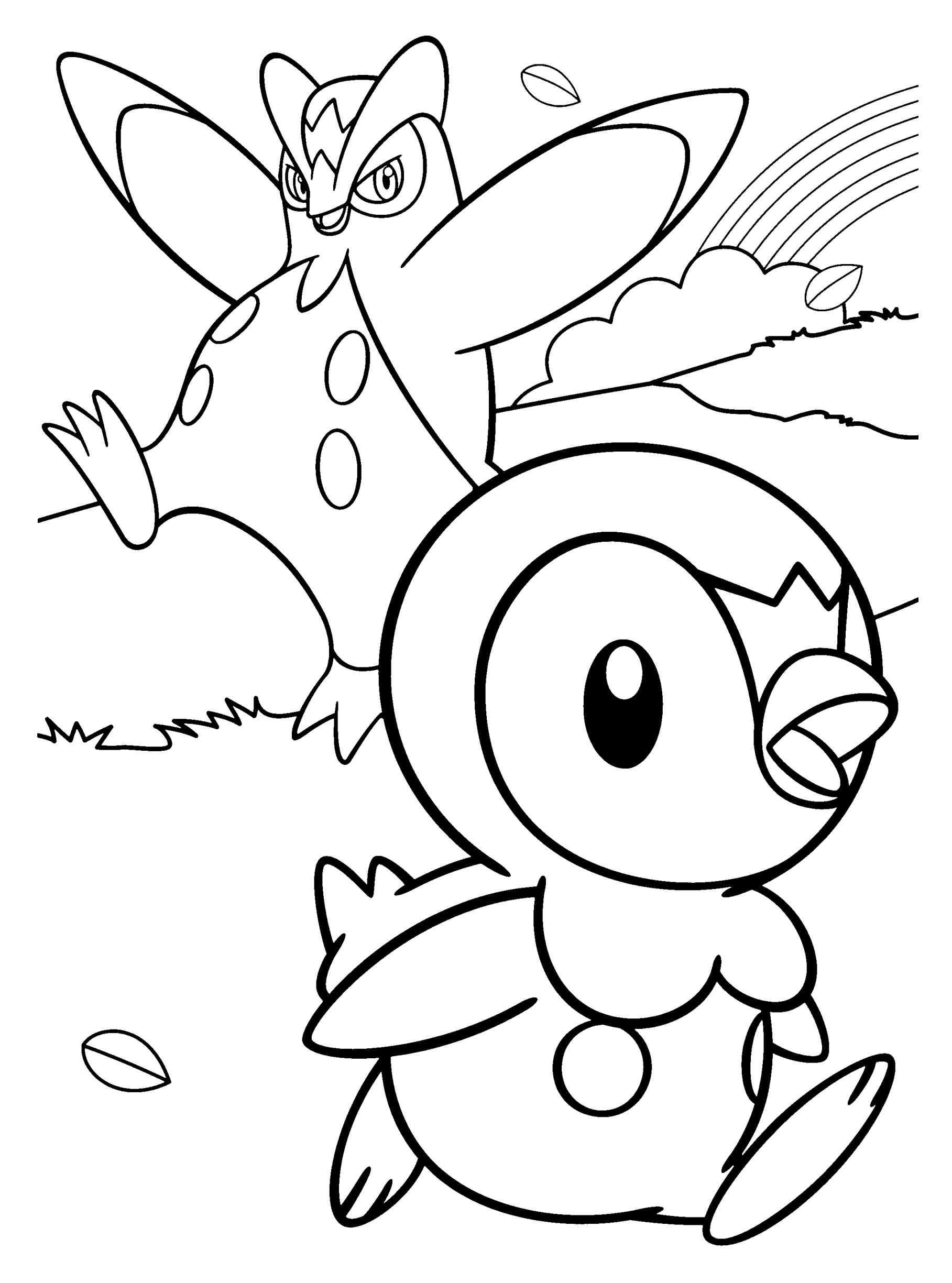 1817x2449 Cherrim Free Diamond Pearl Piplup Pokemon Coloring Pages Prinplup