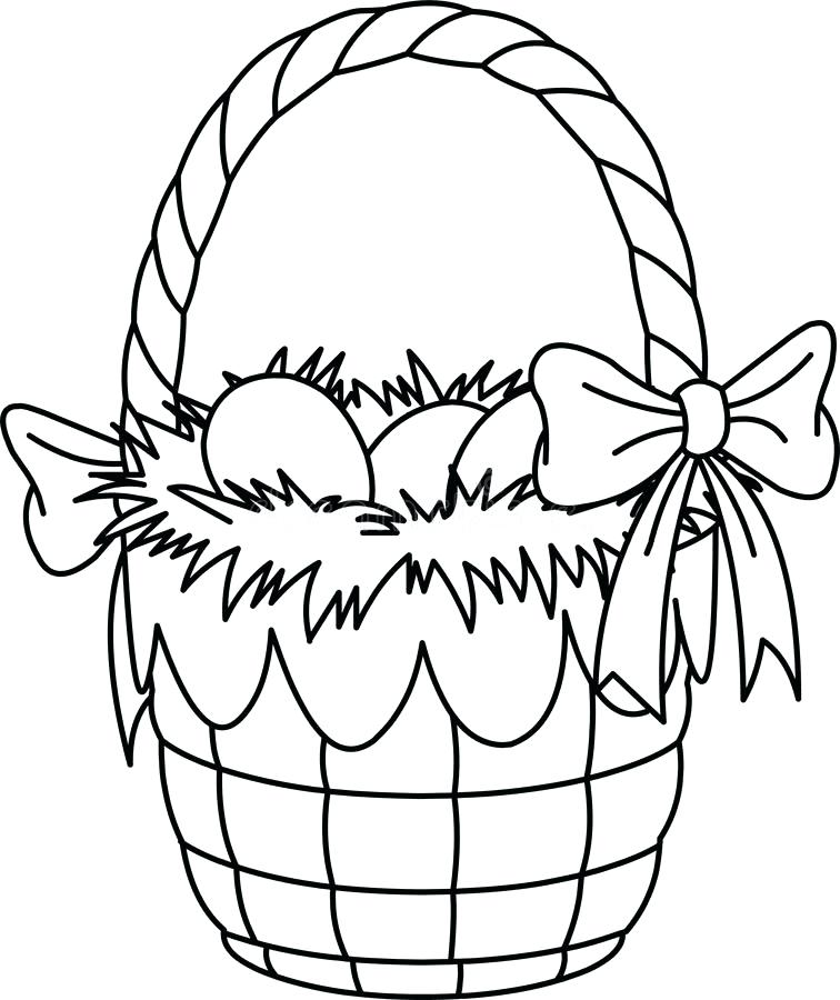 756x900 Easter Basket Coloring Page S Empty Easter Basket Colouring Page