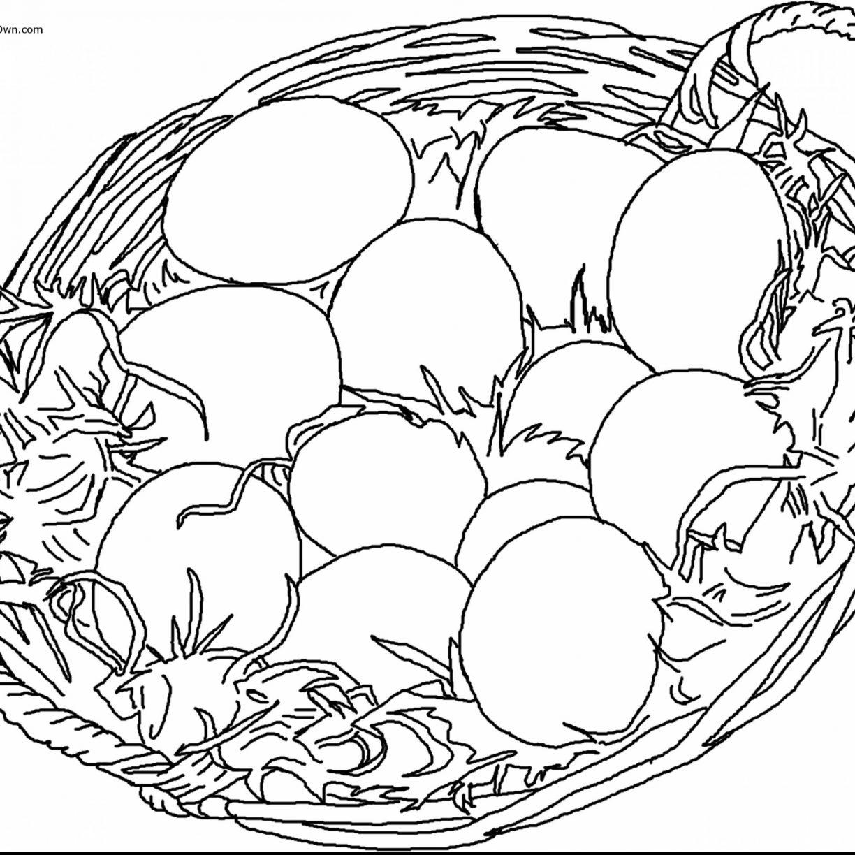 1224x1224 Easter Basket Colorings For Kids Sensational Bunny Egg Colouring