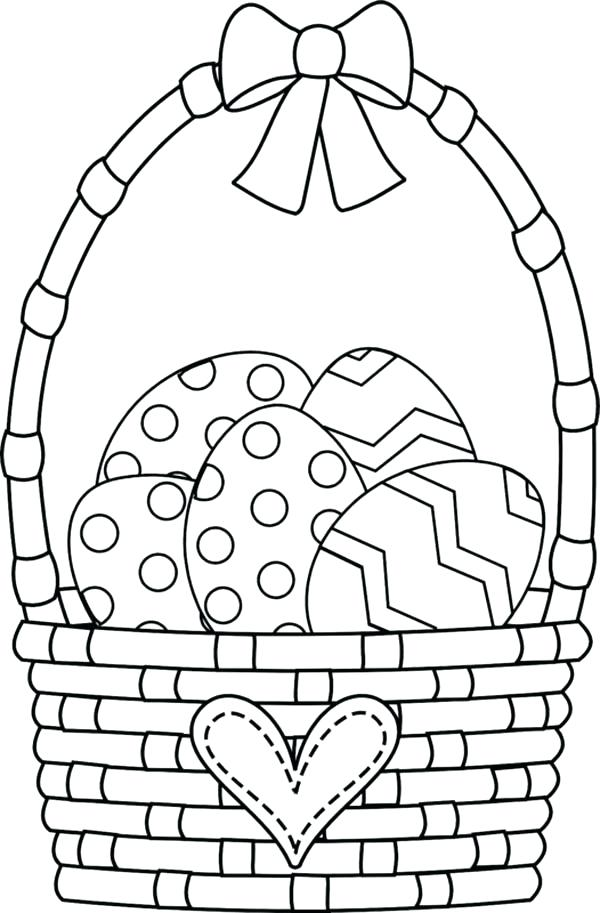 600x913 Easter Baskets Coloring Pages Empty Easter Basket Coloring Sheet