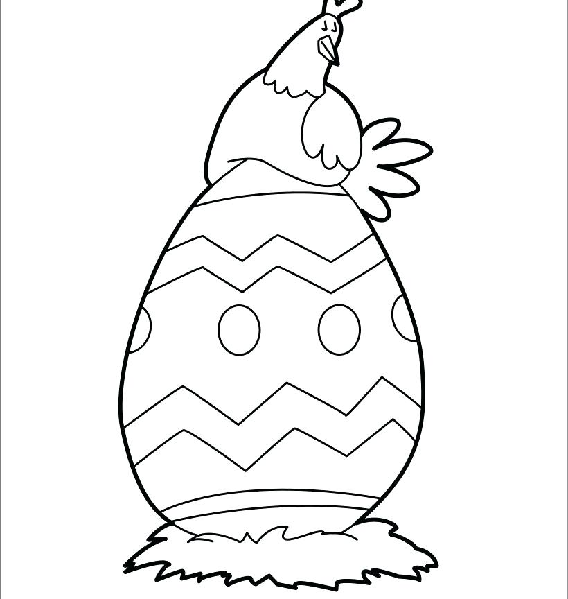 820x864 Easter Egg Coloring Page With Easy Egg Coloring Pages Images