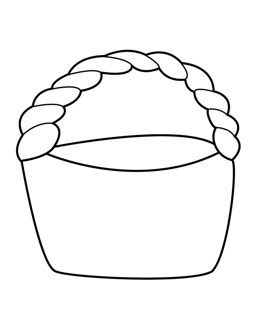 830x1074 Basket Coloring Page