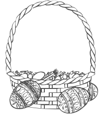 205x236 Empty Easter Basket Coloring Pages Color Bros