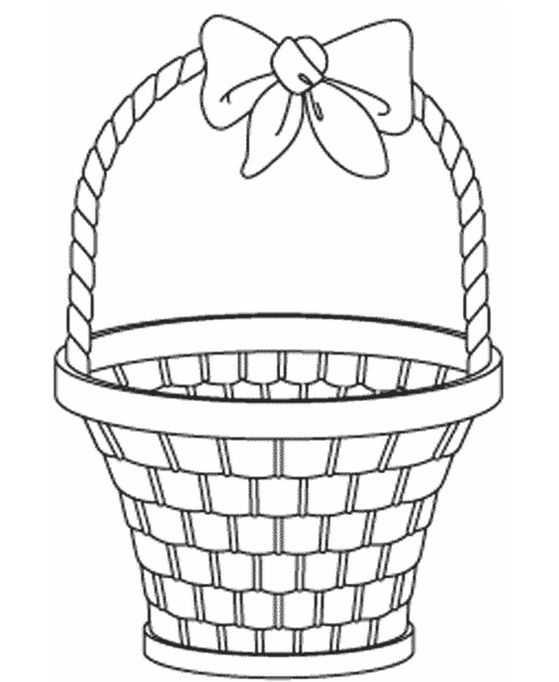 1130x1378 Empty Easter Basket Coloring Book