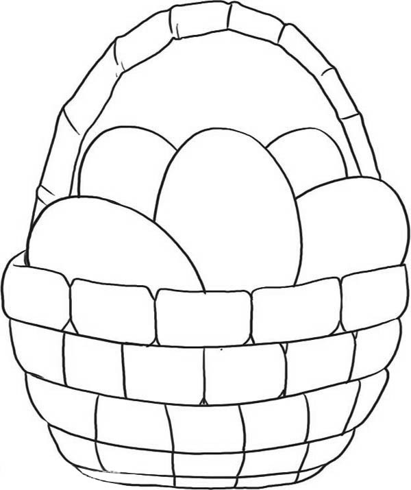 600x715 Easter Basket Coloring Pages Empty Easter Basket Coloring Pages