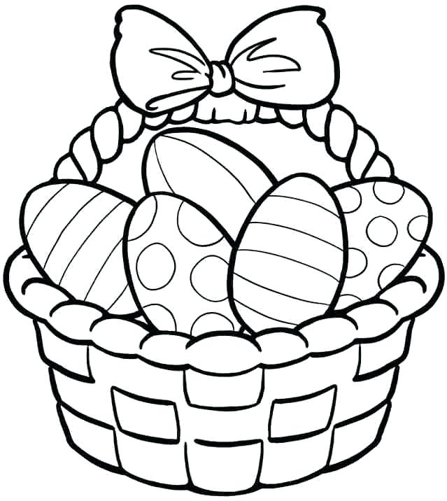 639x716 Easter Baskets Coloring Pages