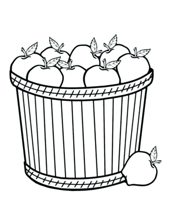 600x776 Basket Coloring Page Bunny In Basket Coloring Page Easy Easter