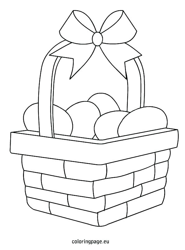 595x804 Basket Coloring Page S S Blank Easter Basket Coloring Page