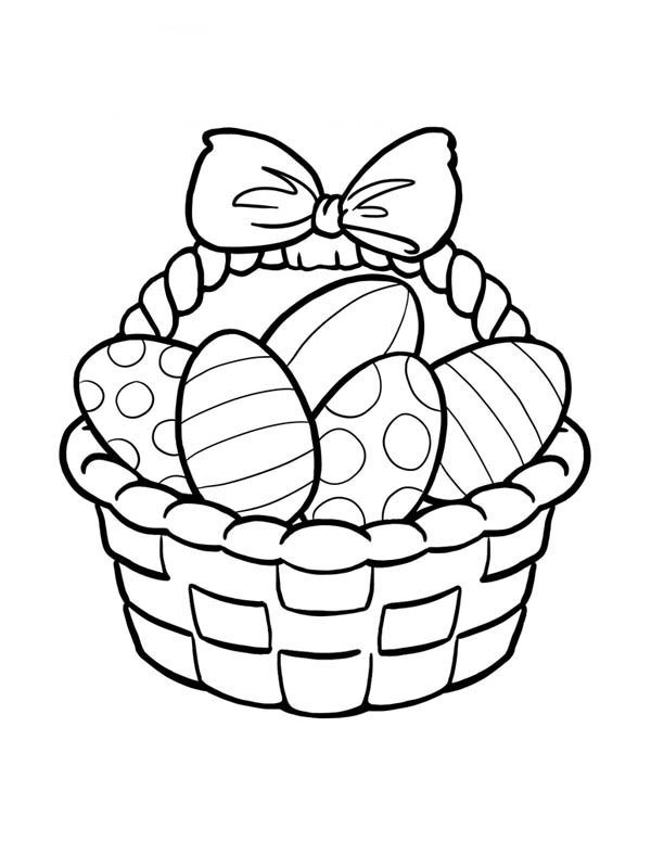 600x776 Best Empty Easter Basket Coloring Page Free Printable