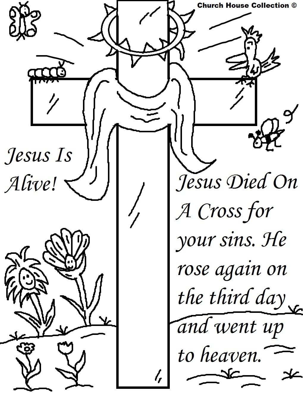 Empty Tomb Coloring Page