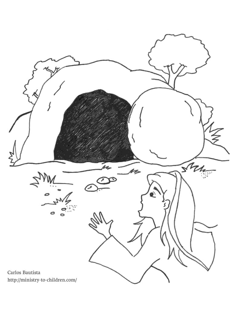 786x1024 Empty Tomb Coloring Page