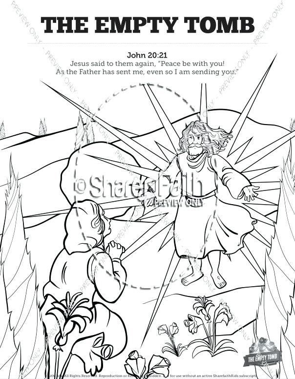 604x776 Empty Tomb Coloring Page Closed Tomb Empty Tomb Printable Coloring