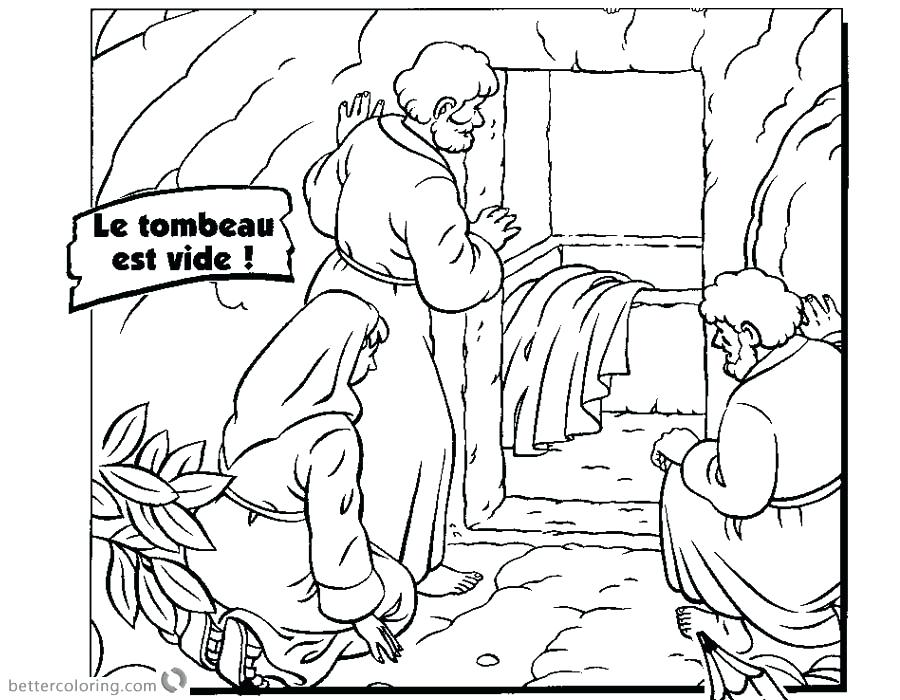900x700 Jesus Empty Tomb Coloring Pages Download This Coloring Page