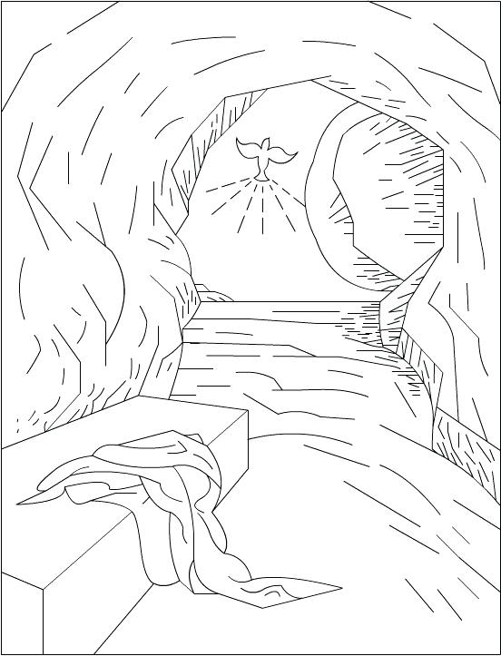 552x723 Jesus Resurrection Coloring Pages Prayed The Garden