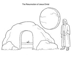 236x182 The Empty Tomb Coloring Page