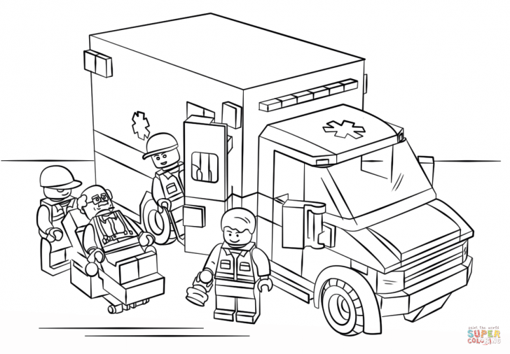 728x506 Ambulance Coloring Pages