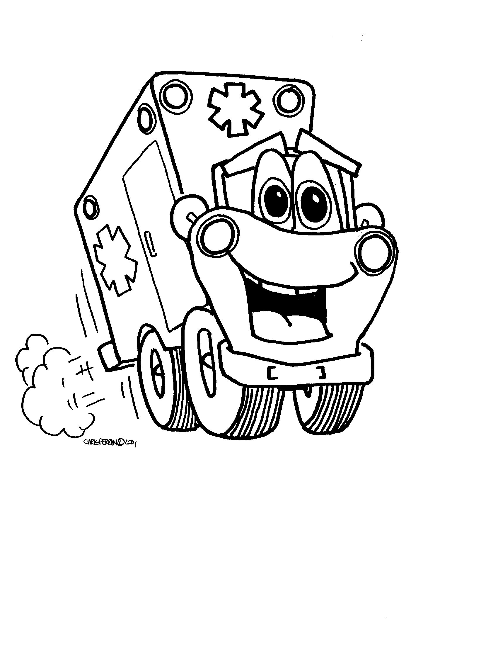 1700x2200 Ambulance Coloring Pages To Download And Print For Free
