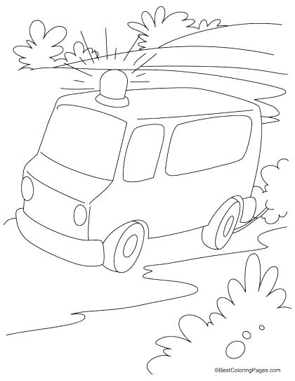 420x542 Ambulance Coloring Page Ambulance Coloring Pages Emergency Vehicle