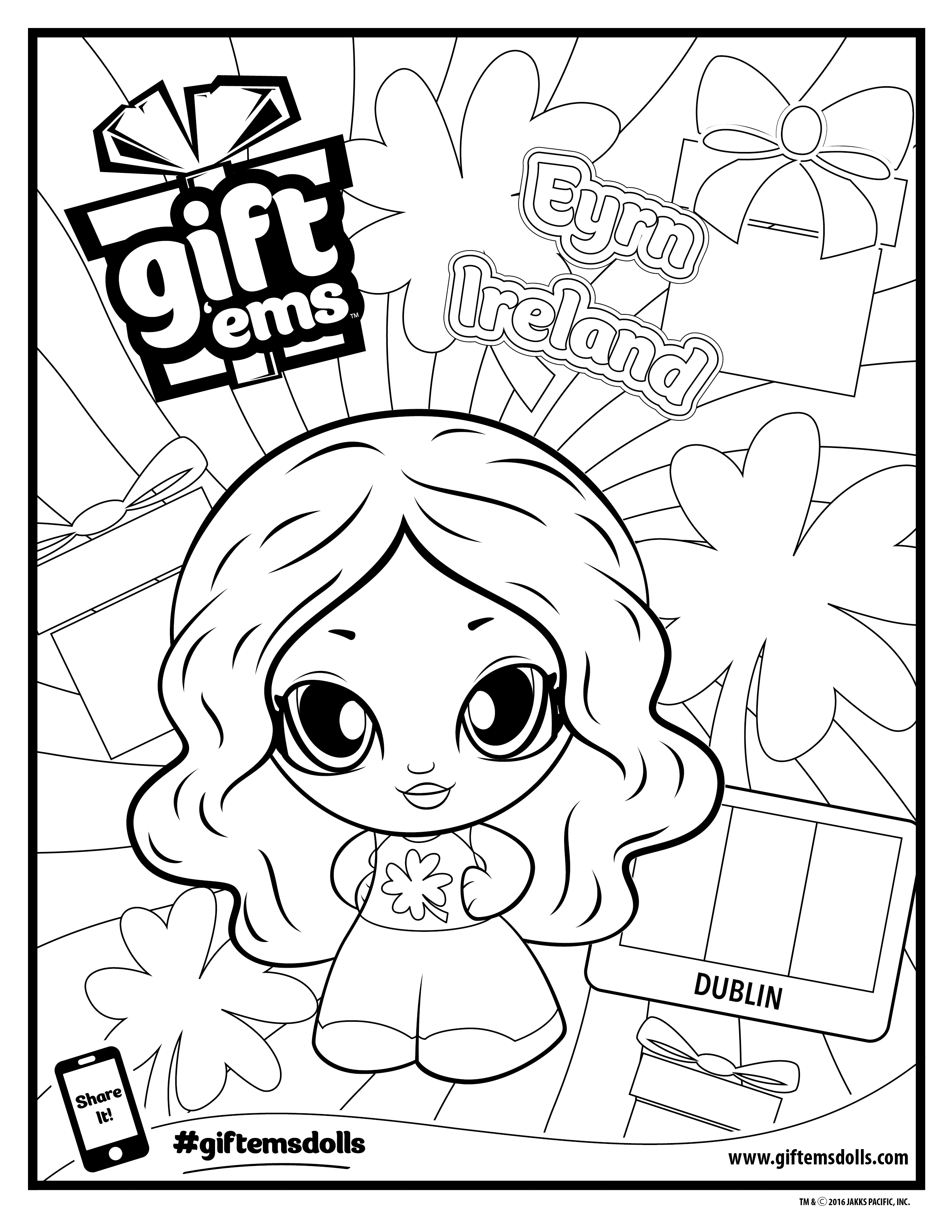 2550x3300 Secrets Ems Coloring Pages Downloads Gift Birthday Party