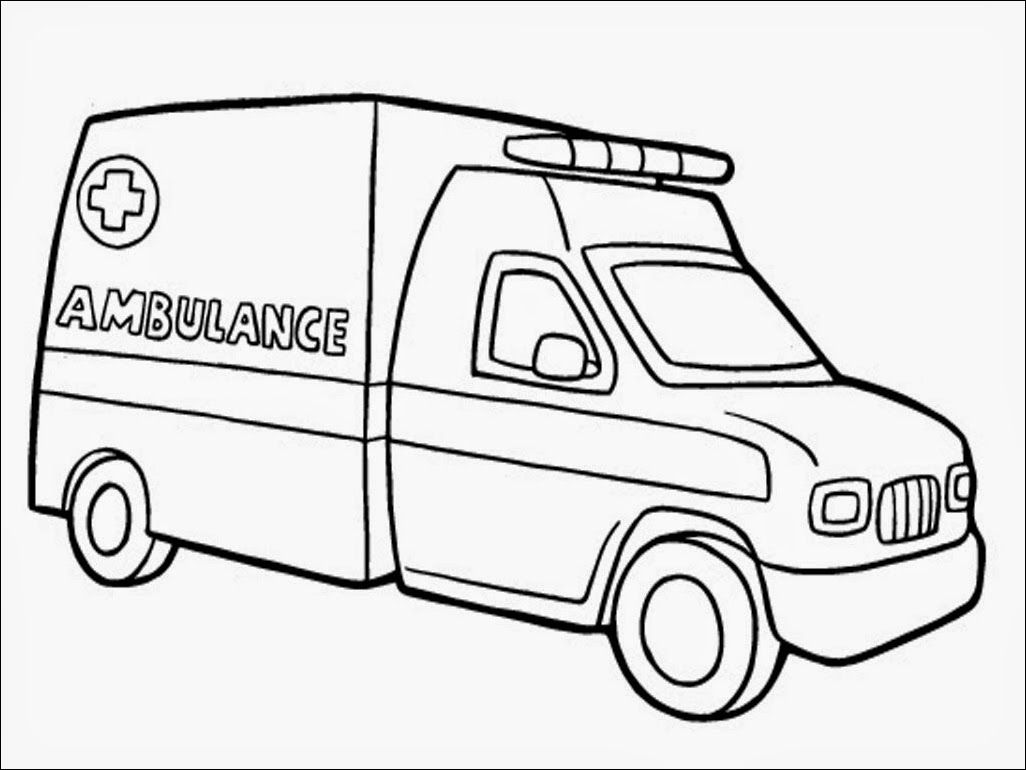 1026x770 Surging Ems Coloring Pages Ambulance Drawing At Getdrawings Com