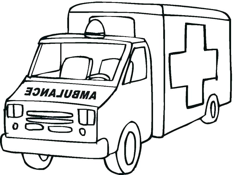 800x600 Ambulance Coloring Page