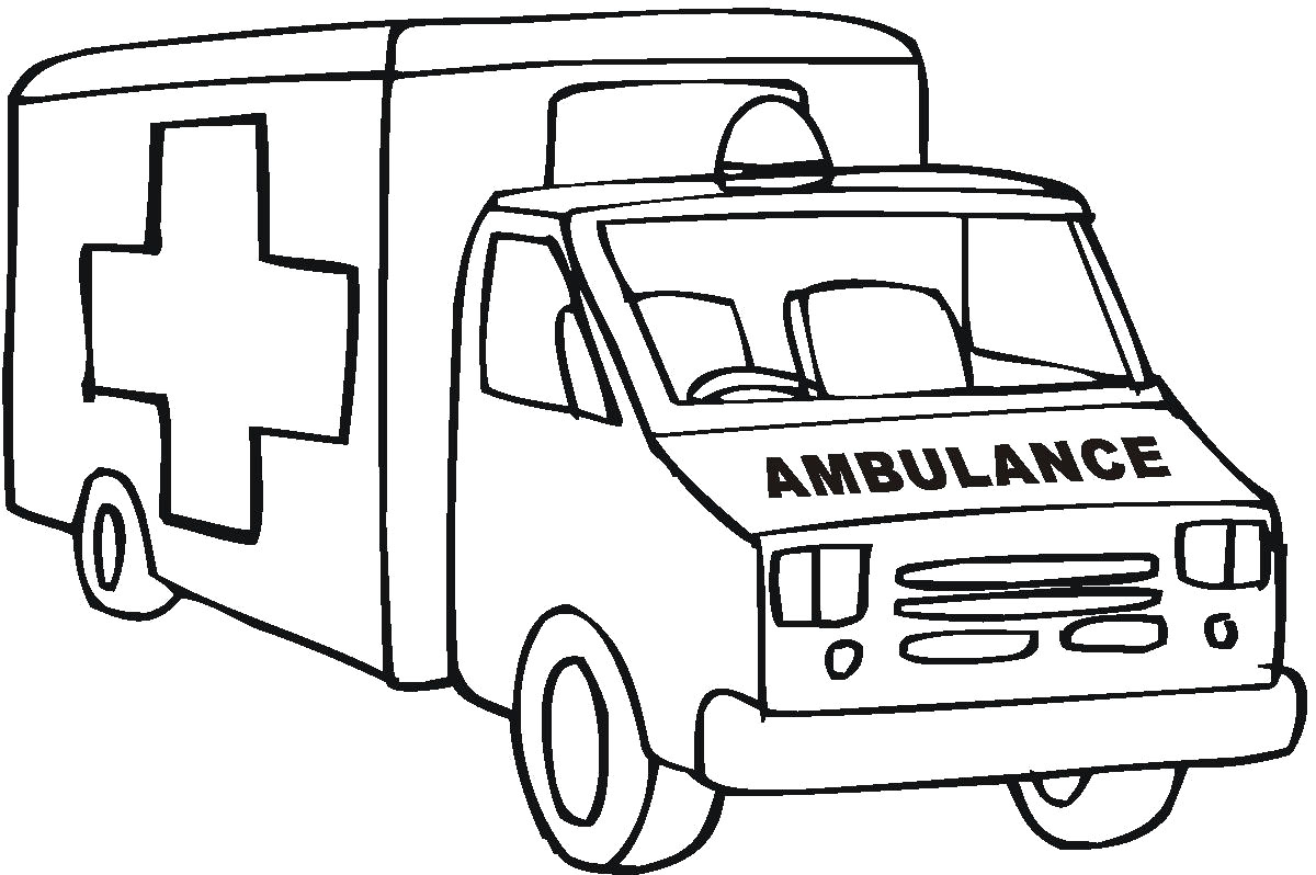 1200x798 Ambulance Coloring Pages