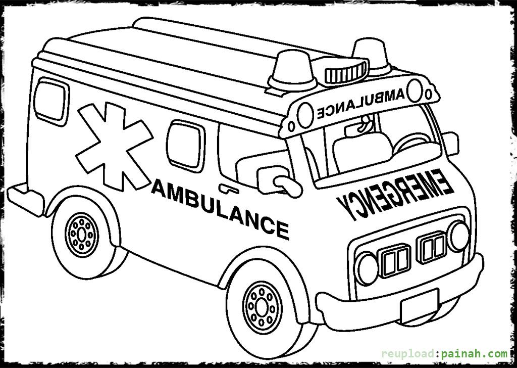 1024x728 Ambulance Coloring Pages And Building